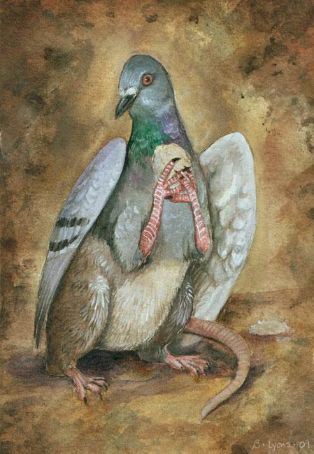Rat with Wings by Brenda Lyons - Falcon Moon Studio