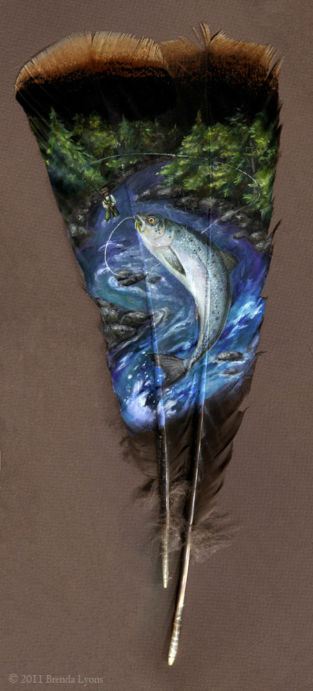 Hand Painted Feathers Wildlife